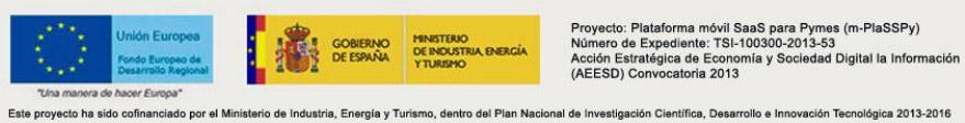 Proyecto cofinaciado por el Ministerio de Industria, Energía y Turismo